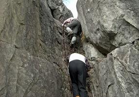 k24.獅子岩岩場を下る