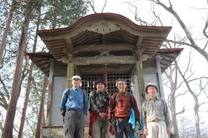 35笠山神社にて