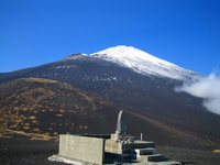 双子山から富士山山頂を望む