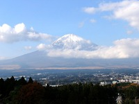 富士山と御殿場市街